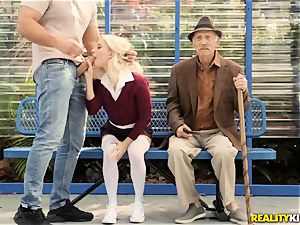 grandpa getting a eye total