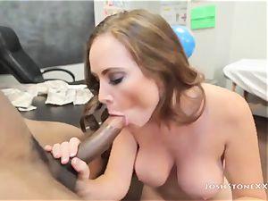 Bad gal Jessica Rayne tempts her brutish ebony instructor
