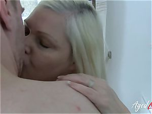 AgedLovE huge-chested Mature Lacey Starr hardcore lover