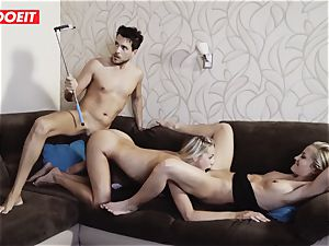 Hungarian steamy babe Gets Rebound fuck-a-thon With Spanish couple