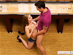 huge-chested Lena Paul sits her marvelous vag on Ryans enormous weenie