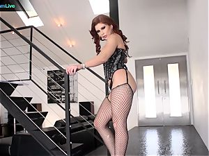 marvelous Brooklyn Lee shaking in climaxes