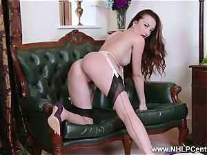 honey strips to nylons heels to fucktoy her pussy