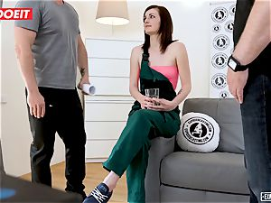 LETSDOEIT - timid teen Gets harsh orgy at casting