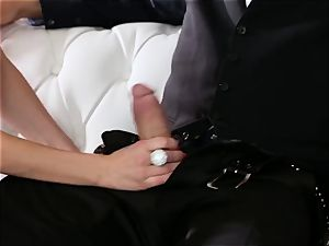 obedient drills his chief Jaclyn Taylor while her spouse sleeps