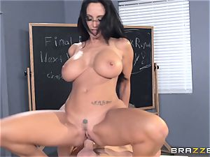 huge-titted professor Ava Addams is banged by her schoolgirl