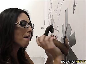 Dava Foxx sucks hefty boners and ravaged in the gloryhole