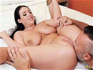 Angela white bashed in her nice little culo crevice